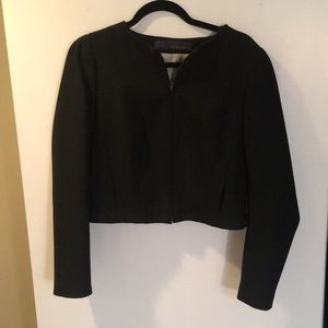 84% off Zara Jackets & Blazers - Simple Zara black Collarless ...